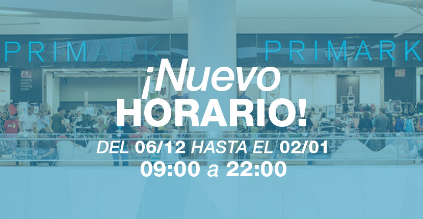 Nuevo horario Primark