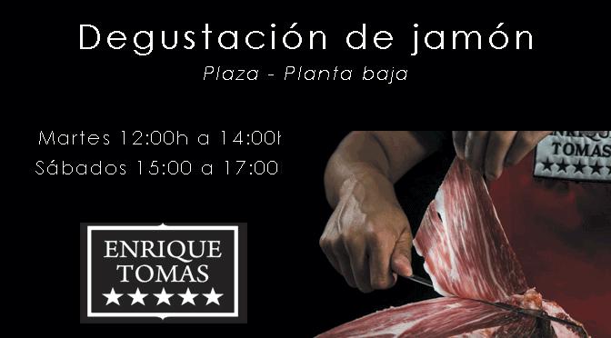 ¡Degustación de jamón en Enrique Tomás!